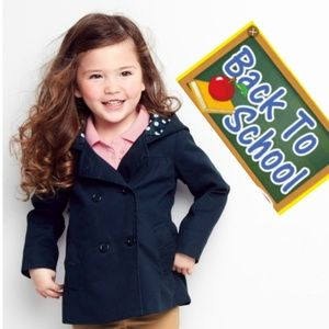 GYMBOREE Dark Blue School Jacket Girls Uniform 7_8